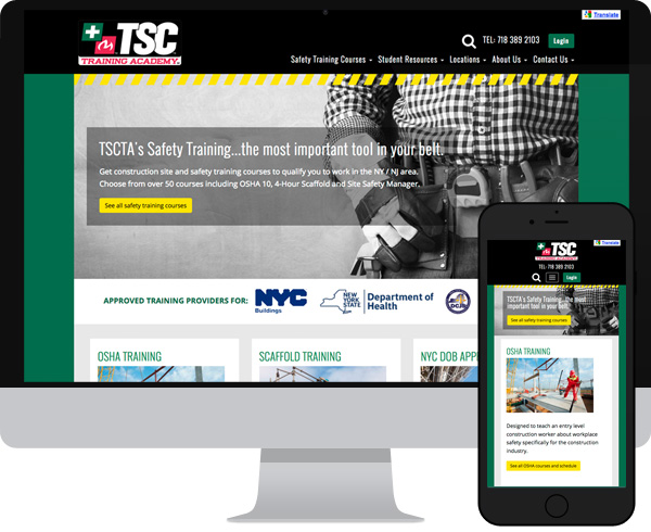 TSC Training Academy Wordpress